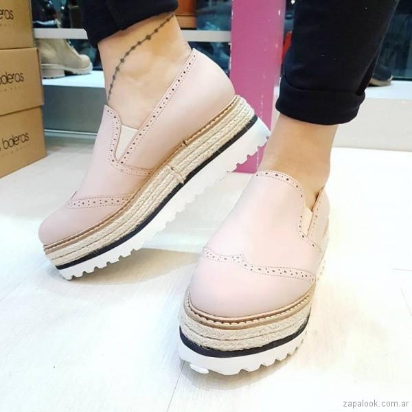 panchas rosadas con yute primavera verano 2018 - Las Boleras