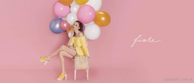 sandalia amarillas primavera verano 2018 - Ferraro