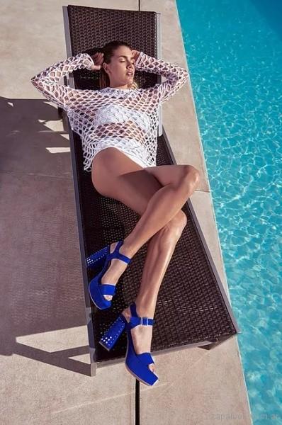 sandalias-altas-azul-francia-verano-2018-Green and Black Shoes
