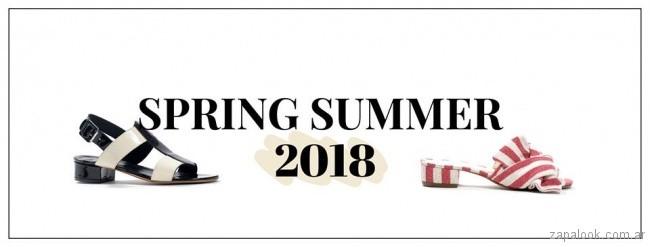 sandalias bajas primavera verano 2018 - Natacha