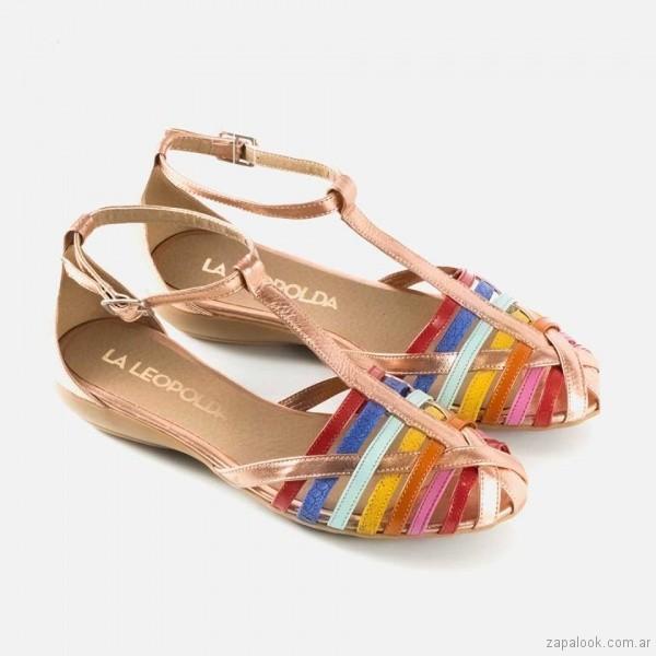 sandalias chatitas multicolor primavera verano 2018 - La Leopolda