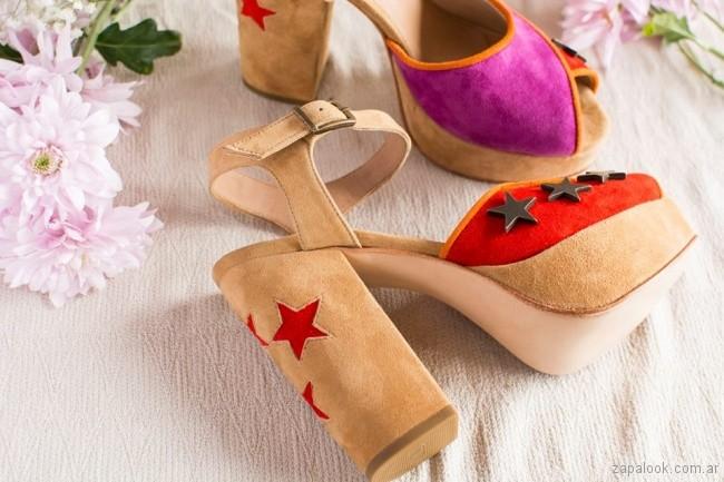 sandalias de gamuza verano 2018 - Clara Barcelo