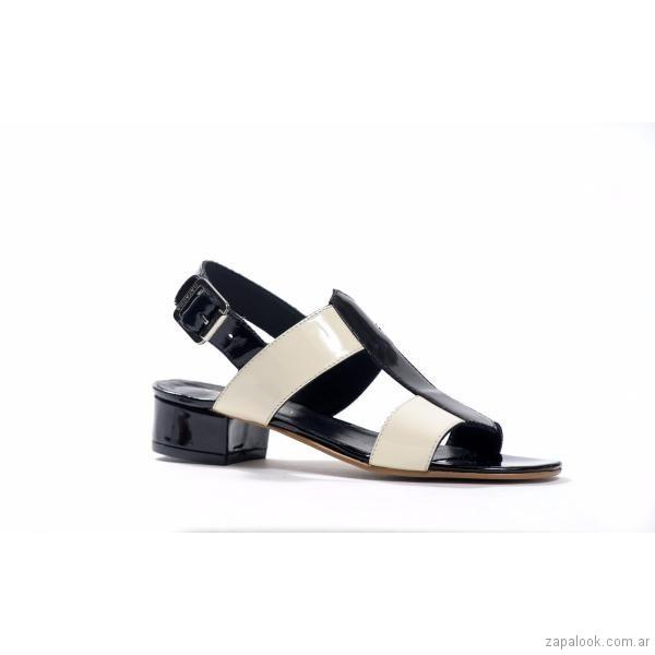 sandalias negras y crema primavera verano 2018 - Natacha