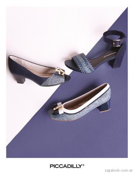 sandalias y zapatos azules verano 2018 - Piccadilly