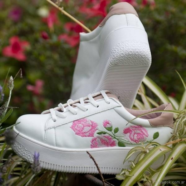 zapatillas bordadas primavera verano 2018 - Nazaria