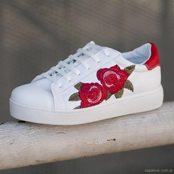 zapatillas urbanas bordadas primavera verano 2018 - Nazaria