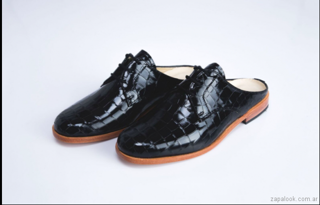 zapatos abotinados sin talon primavera verano 2018 - Los Gekkes