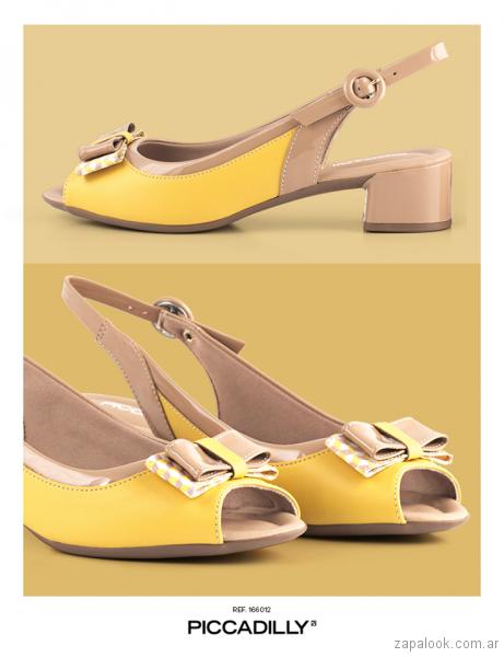 zapatos amarillos verano 2018 - Piccadilly