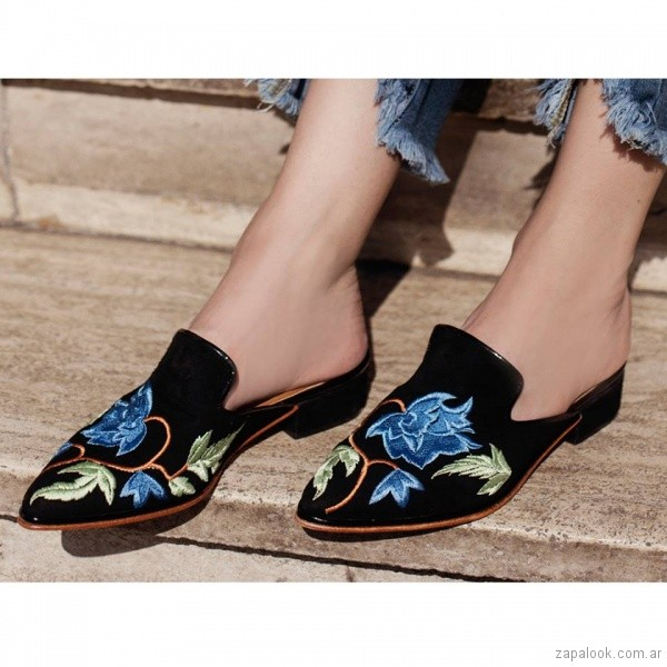 zapatos bordados primavera verano 2018 - Cestfini