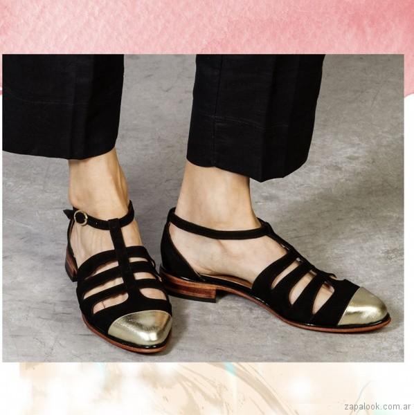 zapatos calados punta metalizadas primavera verano 2018 - Cestfini