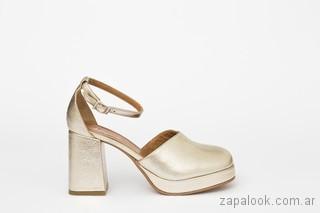 zapatos dorados verano 2018 - JOW