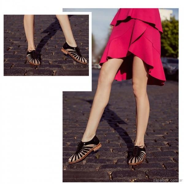 zapatos negros abotinados primavera verano 2018 - Cestfini