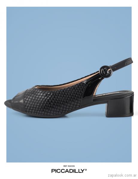 zapatos negros verano 2018 - Piccadilly