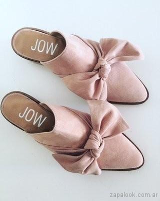 zapatos rosados con moños verano 2018 - JOW