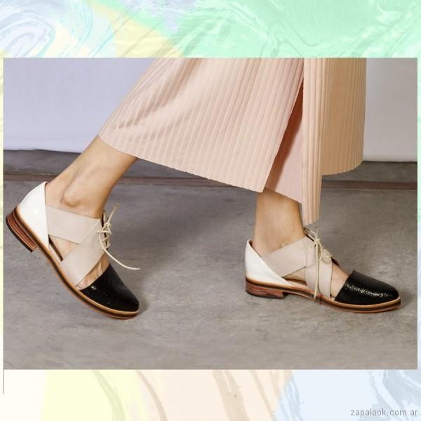 zzapatos abotinados calados primavera verano 2018 - Cestfini