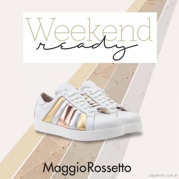 Zapatillas metalizadas verano 2018 - Maggio Rossetto