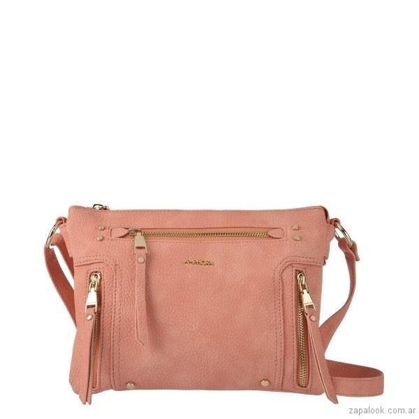 cartera rosada con cierre verano 2018 - Amphora