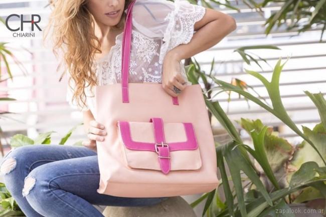 cartera rosada y fucsia verano 2018 - Chiarini