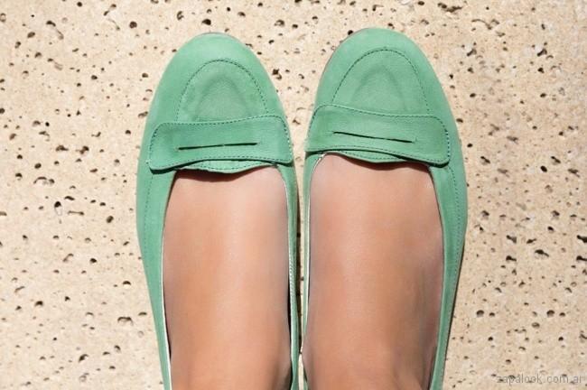 mocasines verdes mujer verano 2018 - Chiarini