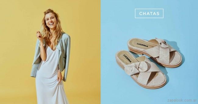 sandalias chatitas croco cuero primavera verano 2018 - Calzados Lucerna