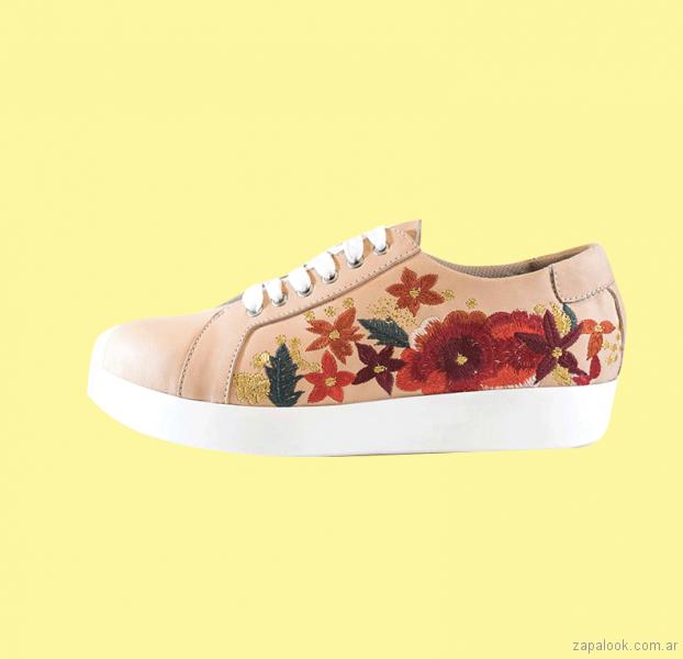 zapatillas bordadas primavera verano 2018 - Calzados Lucerna
