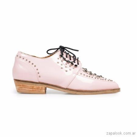 zapato rosado abotinado verano 2018 Margie Franzini