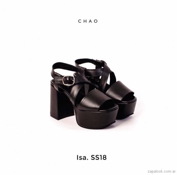 Sandalias negras taco ancho verano 2018 - Chao Shoes.jpg