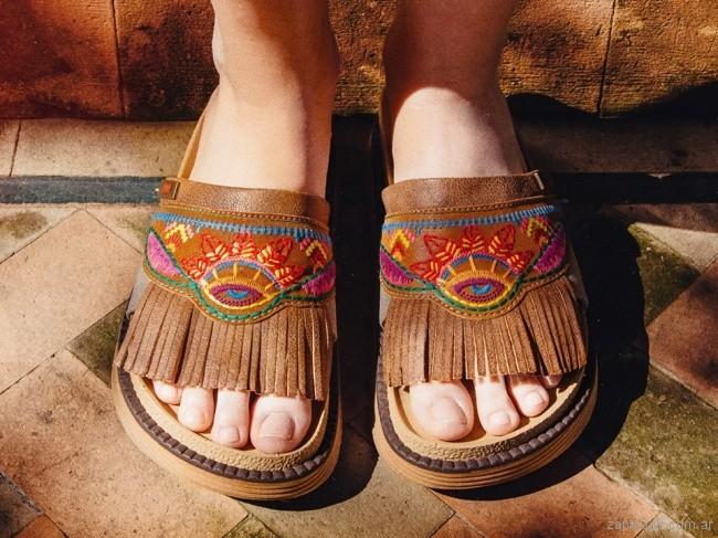 sandalias bordadas verano 2018 - PURO