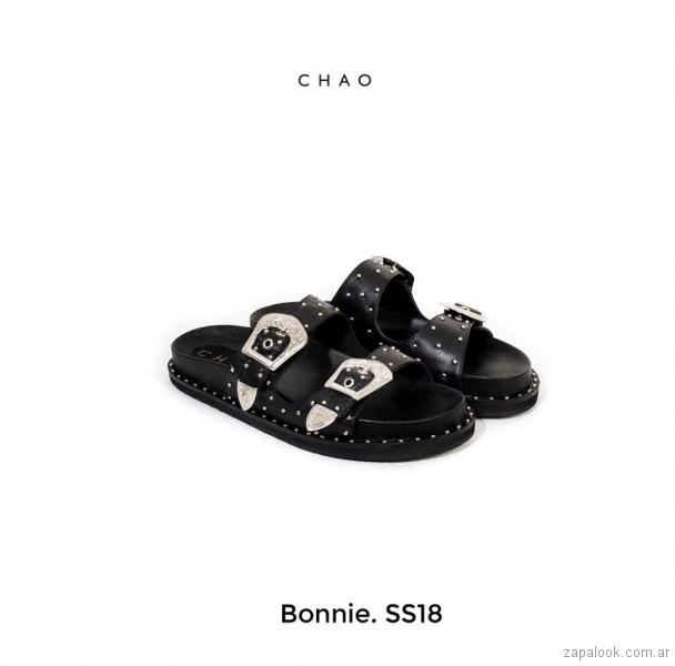 sandalias negras con hebillas verano 2018 - Chao Shoes