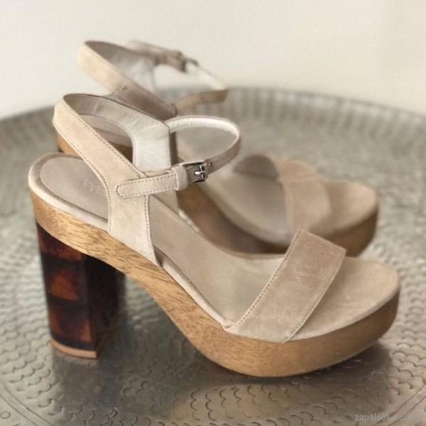 sandalias altas color crema verano 2018 Priscila Bella