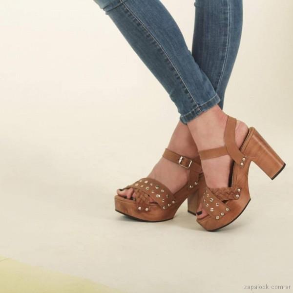 sandalias color suela altas verano 2018 Priscila Bella