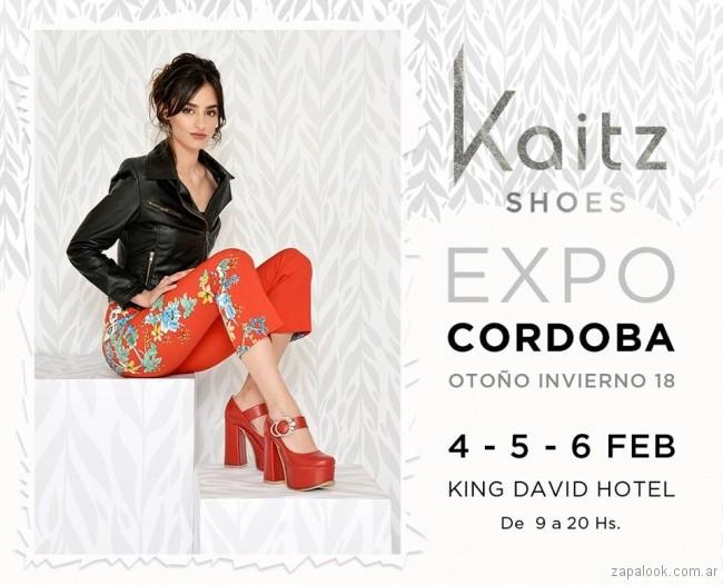 Zapatos de fiesta rojos invierno 2018 Kaitz