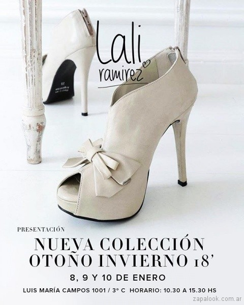 Zapatos taco fino alto invierno 2018 - RH by Lali Ramirez