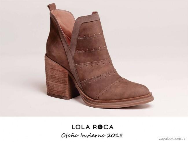 botas texanas con cuero calado invierno 2018 - Lola Roca