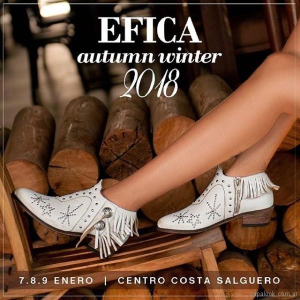 botias blancas texanas invierno 2018 - Laura Constanza