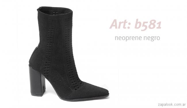 botineta estilo calcetin invierno 2018 - Traza