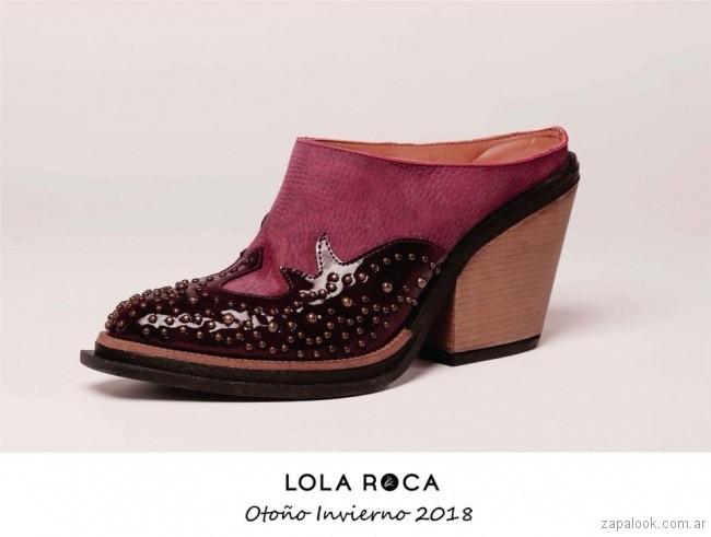 botitas texanas de charol y cuero invierno 2018 - Lola Roca