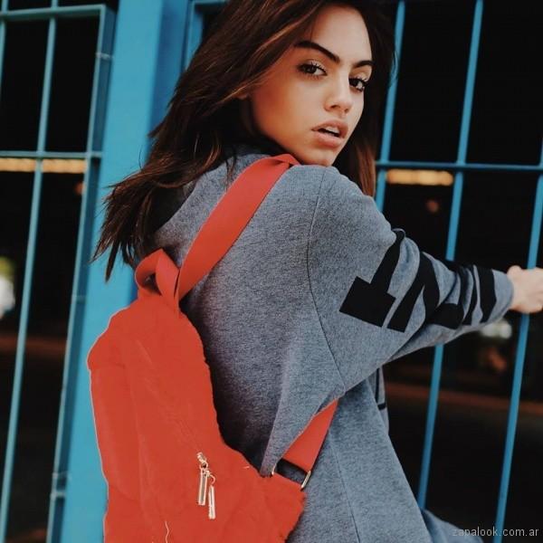 mochila de peluche naranja otoño inveirno 2018 - 47 street