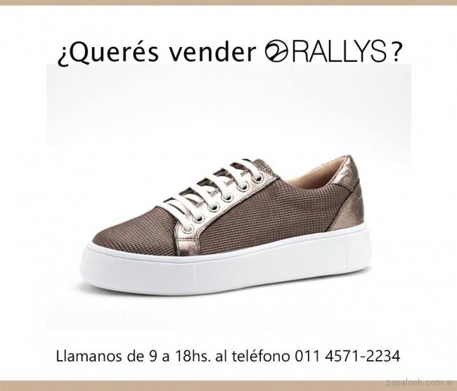zapatillas doradas para mujer invierno 2018 - Rallys