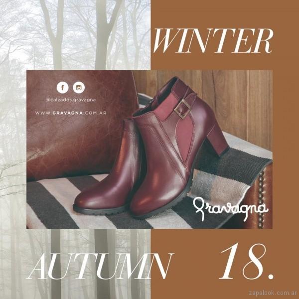 Botineta bordo calzado Gravagna invierno 2018