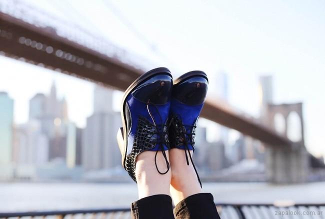 Zapatos altos abotinados para mujer invierno 2018 - Cestfini