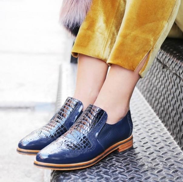 Zapatos azules planos para mujer invierno 2018 - Cestfini