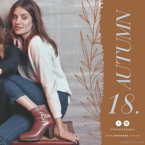 botineta taco alto calzado Gravagna invierno 2018