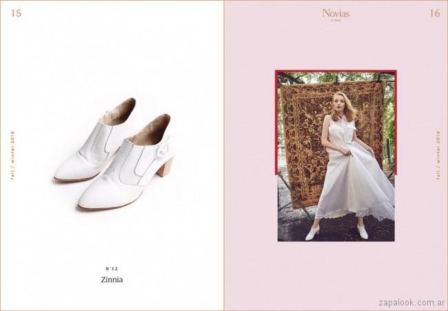 botitas blancas para novias invierno 2018 - LOMM Shoes
