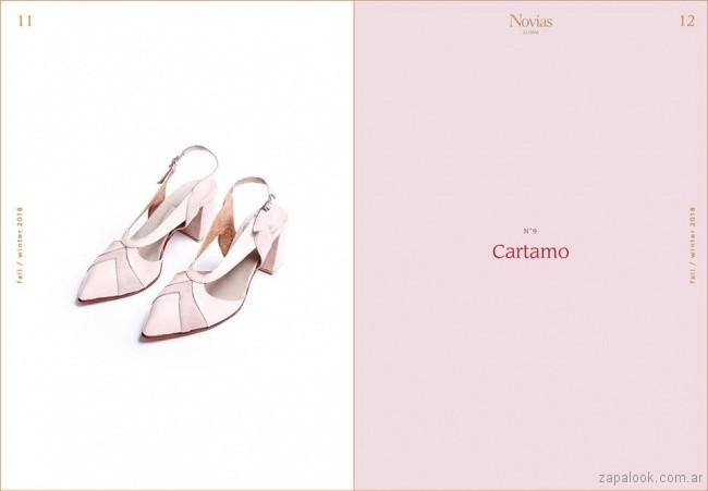 stilettos rosados para novias invierno 2018 - LOMM Shoes