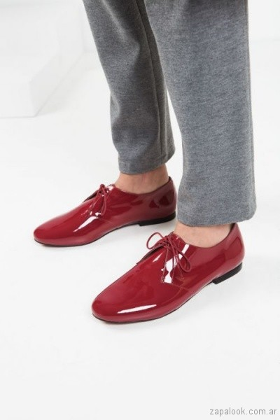 zapato bordo de charol invierno 2018 - Mishka