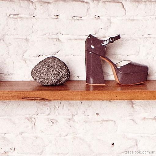 zapato de fiesta gris invierno 2018 - Justa Osadia