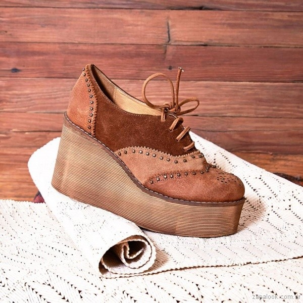zapato abotinado con plataforma invierno 2018 - Clara Barcelo