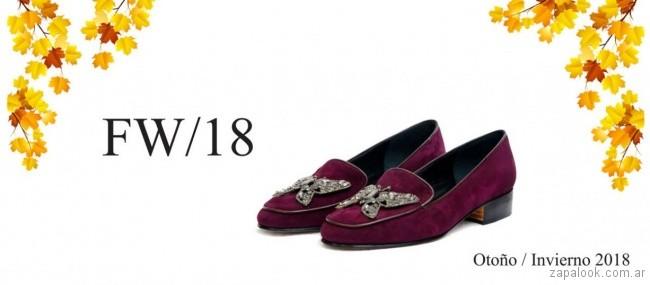 zapato bordo para señora invierno 2018 - TOSONE