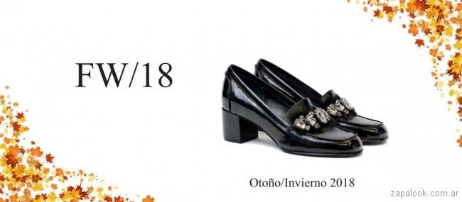 zapatos taco alto y ancho invierno 2018 - TOSONE